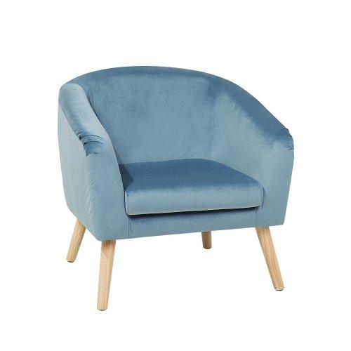 Velvet Armchair Blue NAPPA