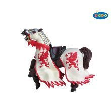 Papo Red Dragon King Horse Figurine - New Brand Knight 39388 -  red dragon horse papo king new brand knight 39388