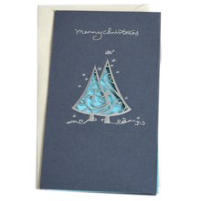 Christmas Cards Greeting Cards Christmas Gift Xmas Cards (4 Cards and Envelopes), Blue # 23