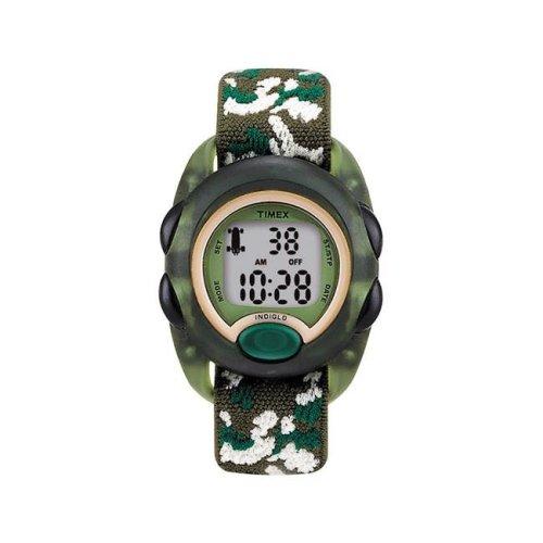 Timex 6518294 Sports Watch Boy Round Camouflage Digital Nylon Water Resistant