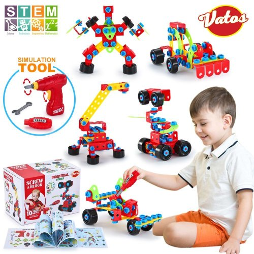 VATOS Building Toys 552 PCS Educational Construction Engineering Toys Blocks Set STEM Learning Toys Kit Creative Fun Best Toy Gift for Kids Age 6+...