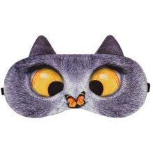 Eccentric Cat Expression Sleeping Eye Mask Eye Cover Sleep Goggles