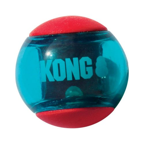 KONG Squeezz Action Red Dog Ball (Multipack)