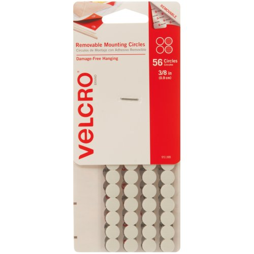 """Velcro(R) Brand Removable Mounting Circles .375""""-56/Pkg"""
