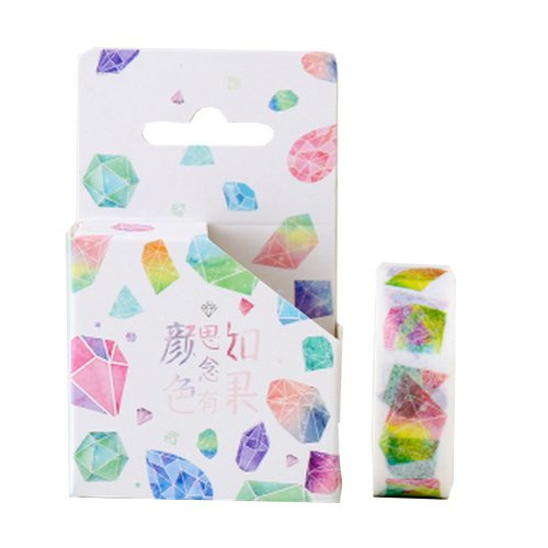 Set of 4 Decorative Washi Masking Tapes DIY Craft Tapes Paper Tapes [Color-1]