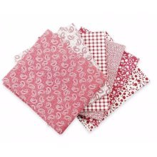 Fat Quarter Bundle - 100% Cotton - Dusky Pink - Pack of 6