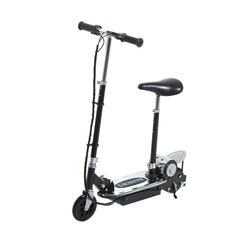 homcom foldable e scooter 24v rechargeable battery on onbuy. Black Bedroom Furniture Sets. Home Design Ideas