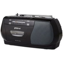 Groov-e Retro Series Portable Cassette Player with Radio - Black (GVPS575BK)