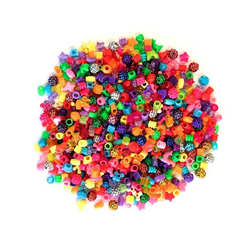 Beautiful Beads Assortment 1200 pieces KIds Craft