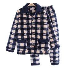 Men Pajamas Warm Thick Cotton Modern Set Sleepwear/Nightwear Clothes for Home, #No.4