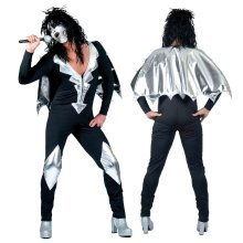 Bristol Novelty Ac124 Glam Rock Jumpsuit (52/54) - Mens Fancy Dress Costume -  mens glam rock jumpsuit fancy dress costume outfit alice cooper kiss