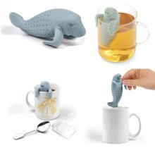 Manatea Infuser Strainers Grey Loose Green Tea Health Drink Herbal Tea Cup Gift