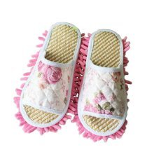 Creative Useful Mop Slippers Floor Cleaning Slippers Rose