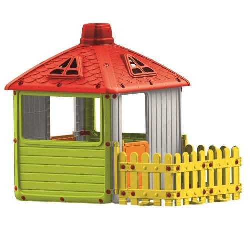 Dolu Garden City with Fence Kids Childrens Playhouse Indoor Outdoor 2 Years +