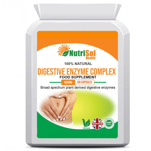 NutriSol Health Digestive Enzyme Complex 90 Capsules Digestive Health
