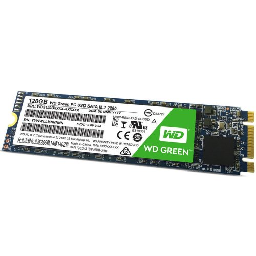 120Gb WD Green Series M.2 PCI-e SSD