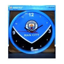 Manchester City Swoop Wall Clock - Official Licensed Football Gift Product Time -  manchester wall clock official licensed football city gift swoop