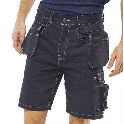 "Click GMPSN30 Grantham Multi Pocket Shorts Navy Blue 30"""
