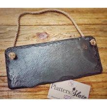 Blank Slate Sign Plain For Memo Gift Chalk Board- 25x12cm