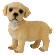 Realistic 16cm Standing Yellow Labrador Puppy Dog Statue Ornament