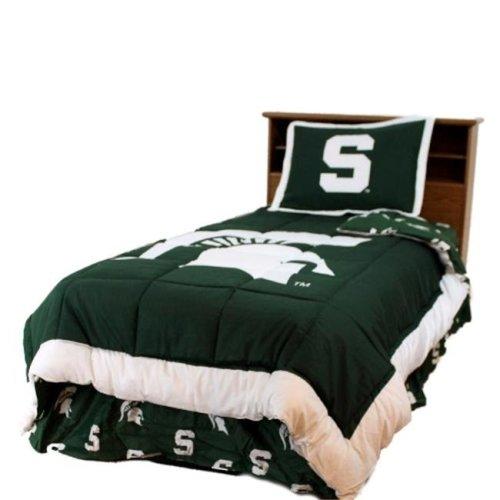 College Covers MSUCMQU Michigan State Reversible Comforter Set -Queen
