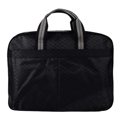 Multilayer Thicker File Holder Zipper Briefcase Information Bag-Black