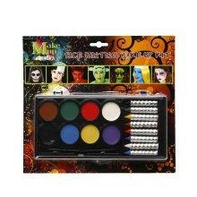Face Paint Oil Base & Crayons 8 Colours -  face 8 paint crayons oil base colours