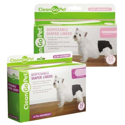 Clean Go Pet ZW6115 22 Disposible Diaper Liner 22Pk Lite
