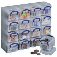 Really Useful 16 X 0.14l Clear Organiser Box