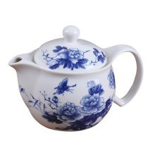Chinese Retro Style Floral Teapot with Infuser