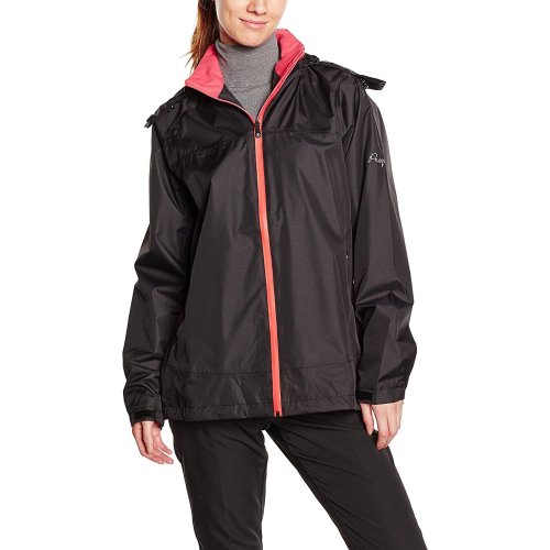 ProQuip Golf Sophie Ultralite Waterproof Rain Jacket Black/Coral X-Small