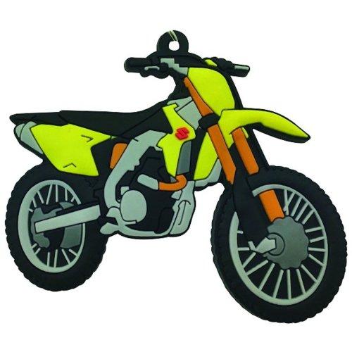 Suzuki RMZ 450 rubber key ring motor bike cycle gift keyring chain