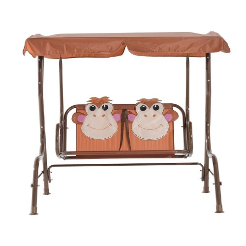 Homcom Children's 2 Seater Swing Seat | Kids' Monkey Swing Chair