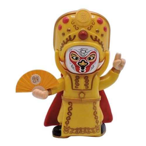 Creative Chinese Opera Face Changing Doll Sichuan Opera Figure Toy, Yellow