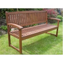 Henley Wooden Outdoor Bench | 3 Seat Garden Bench
