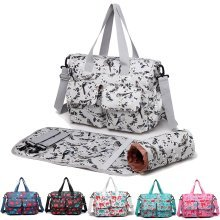 Miss Lulu 3pcs Baby Diaper Nappy Changing Bag Bird Flower Elephant Pattern