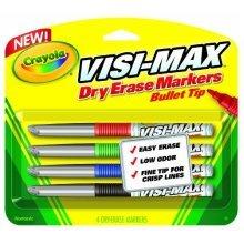 Crayola Dry Erase Markers (4 Count), Visimax FL