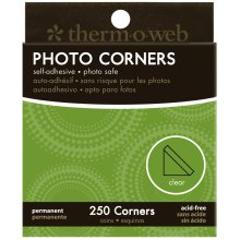 Photo Corners Boxed 250/Pkg-Clear