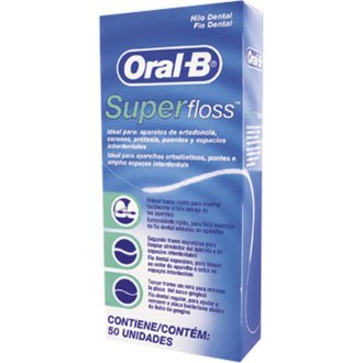 12 X Oral -B Super Floss 50 PRE-CUT STRANDS, Dental Floss