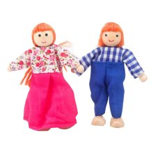Set of 2 Lovely Mini Dolls Play House Toys Games Kids Girls Role Playing Dolls
