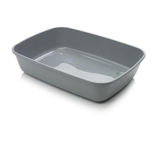 Iriz Cat Litter Tray Cool Grey 50x36.5x11.5cm (Pack of 12)