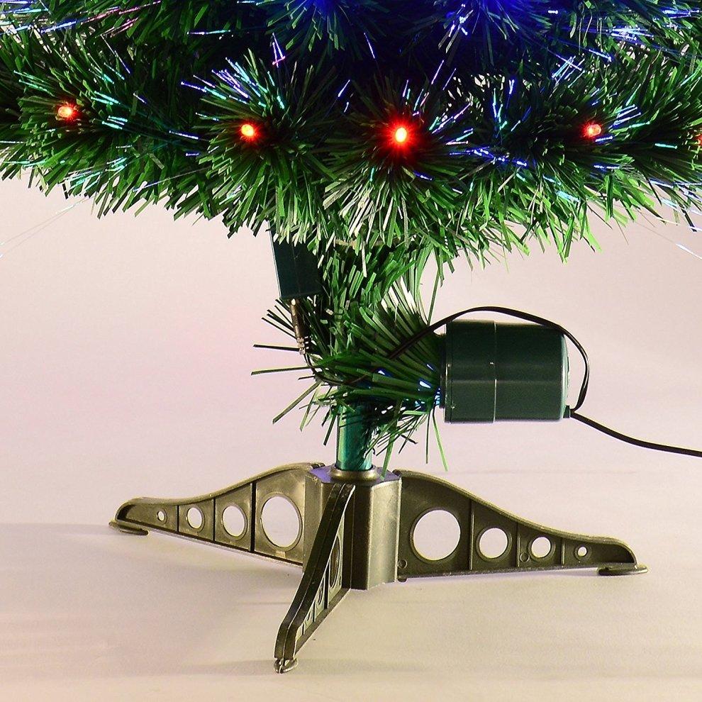 3ft Christmas Trees Artificial: Homcom 3ft Green Fibre Optic Artificial Christmas Tree