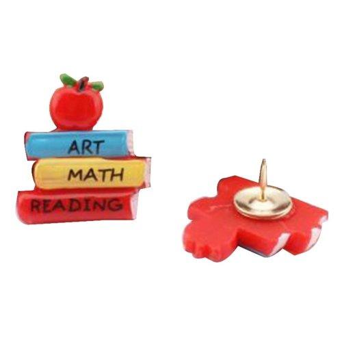 5 Pcs Book Creative Color Plastic Pushpin Push Pin Thumbtack Office Supplies