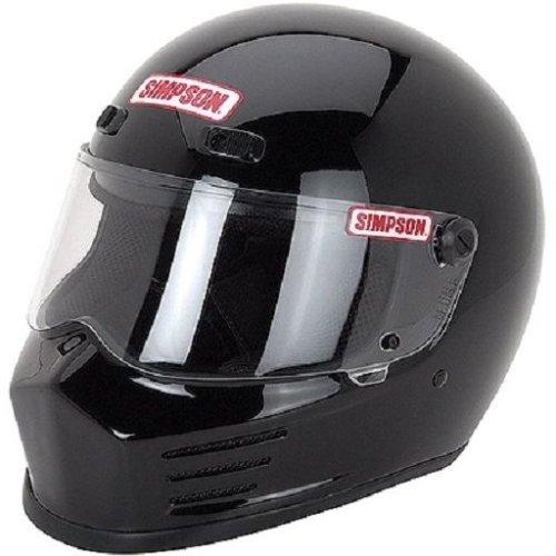 c862bd68 Simpson Street Bandit Helmet Snell M2015 Gloss Black Xl X-Large 62Cm 7 3/4  on OnBuy