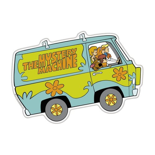 Fan Emblems Scooby Doo Mystery Machine Character Automotive Decal, Domed Emblem Sticker for Cars Trucks Motorcycles Laptops Almost Anything...