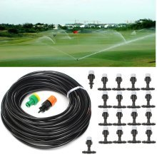 20M 20Pcs Nozzles Garden Patio Water Misting Cooling System Sprinkler Nozzle Irrigation