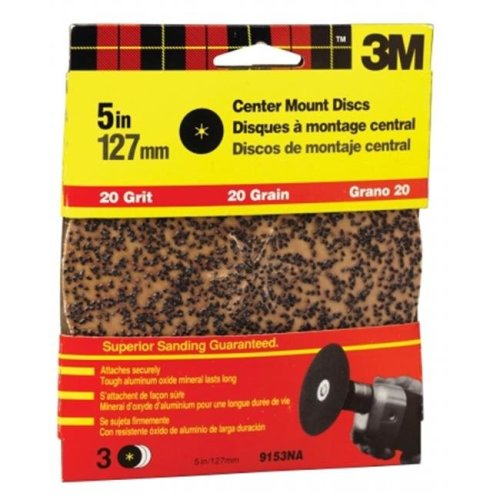 3m 5in. Extra Coarse Center Mount Discs  9153DC-NA