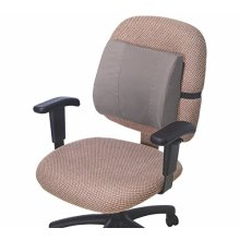 Essential Medical Supply Molded Lumbar Cushion with Elastic Positioning Strap in Grey