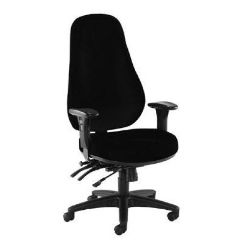 Cheetah Fabric Chair Black