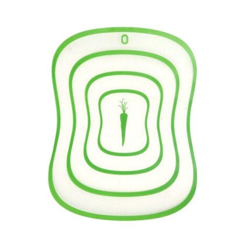 2 Pcs Creative Fashion Safe Plastic Cutting Boards Flexible Chopping Board GREEN